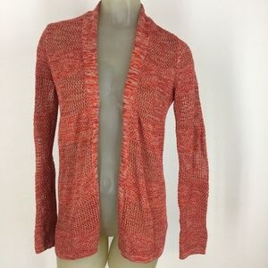 The limited cardigan sweater cotton open orange